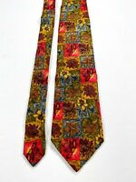 Ermenegildo Zegna Colorful Floral Silk Men's Tie