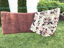 Wenzel Vintage Camping Outdoor Sleeping Bag Wood Ducks inside