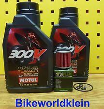 YAMAHA WR 250 f/ YZ 250F 09-14 Filtro de Aceite Motul 300v 10w40 MOTOR JUNTAS