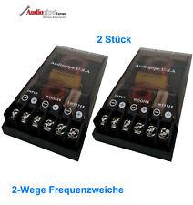 2x Audiopipe 400 Watt  2-Wege Frequenzweiche Weiche Bass Hochtöner 4 ohm TOP