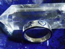 Silberring 925 Sterling Silber, Handarbeit, Herz, Ringgröße 15mm