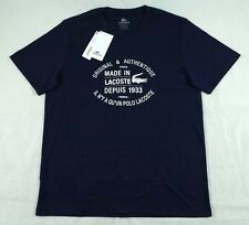 Lacoste 1933 Blue Pima Cotton Basic T-Shirt Size L TH1158 BNWT 100% Authentic