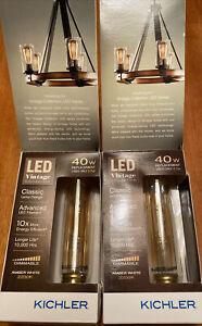Kichler EDISON 40W Amber White (LOT OF 2) T9 LED Bulb W/ Standard Base 0784784