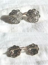Orecchini Antichi in Oro, Argento e Diamanti