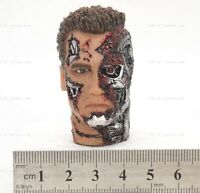 """1/6 Scale Terminator T800 Half Damaged Head For 12"""" Action Figure Toys"""
