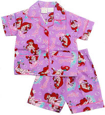 NEW SZ 1-8 KIDS SUMMER GIRLS PYJAMAS BUTTON MERMAID SLEEPWEAR NIGHTIES PJS TEE