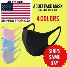 Black Face Mask Fashion Washable Reusable Unisex Adult mask US SELLER