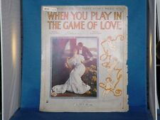 JOE GOODWIN When You Play In The Game Of Love SHEET MUSIC