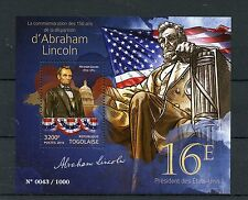 Togo 2015 MNH Abraham Lincoln 150th Memorial 1v S/S 16th US President Stamps