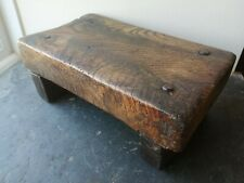 More details for fabulous 19th century vernacular elm candle stand / country stool dated 1867