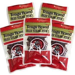 New Tengu Brand Beef Jerky Regular Size 100g x 5 pcs Japan Import With Tracking