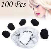 100X Hair Nets Invisible Elastic Edge Mesh Net Fishnet Elastic Cotton Fibers NEW