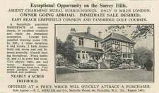 1936 Charming Surrey Hills Residence Limpsfield Common 4v Acres For Sale