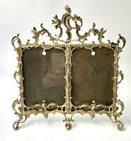 Rare cadre photo double en bronze style LOUIS XV 1900 frame
