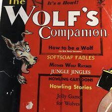 Stag Type  Humor Magazine -The Wolf's Companion - Walter Thorton Pin Up -