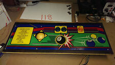 Control Panel for 8 BALL ACTION - 1984 Magic - complete, very nice, trackball