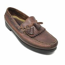 Men's VINTAGE Sperry Top-Sider Boat Shoes Loafers Size 12 M Brown Leather B7