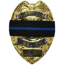 "Police Law Enforcement Mourning 3/4"" Band for Badges Thin Blue Line"