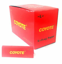 """""""COYOTE"""" DELUXE NATURAL GUM ROLLING PAPERS, 1.0, FINEST 50 BOOKLETS"""
