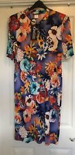 Kim & Co Ladies Short Sleeved Dress_size L_Orange Multi-colour_New with Tags_QVC