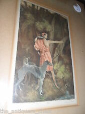 Antique Rare lithograph numbered 4/75 and signed in pencil by John S. Eland