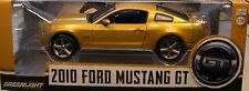 GREENLIGHT 1:18 SCALE DIECAST METAL SUNSET GOLD 2010 FORD MUSTANG GT
