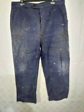 ancien pantalon de travail moleskine bleue  C 32 LAFONT