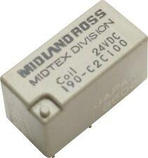 Midtex Midland DPDT Relay 24VDC 2A 190-C2C100 Made in Japan