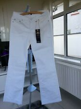 Ladies Oasis Size 12 Mid Rise White Jeans Brand New