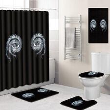 Bathroom Set 5pcs Shower Mat Shower Curtain Non Slip Bath mat Toilet Lid Cover