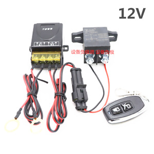 Car Battery Disconnect Kill Cut-off Positive&Negative Switch w/Wireless Remote