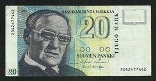 Finlande : 20 Markka 1993