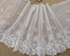 "2Y~8""~Venice Embroidered Lace Trim Flower Design Wedding Doll Bridal Offwhite"