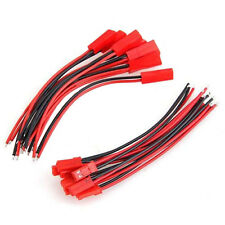 10× Male+Female JST Connector 10cm Cable Line Plug for RC BEC Lipo Battery cn