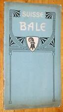 GUIDE DE BALE ET DE SES ENVIRONS vers 1910-1920 Basel suisse tourisme voyage