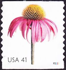 US - 2007 - 41 Cents Beautiful Blooms Coil #4170 Plate # Single #P2222 Used