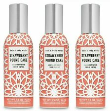 Bath And Body Works Strawberry Pound Cake Concentrated Room Spray (Set Of 3)