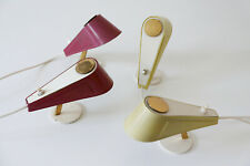 Rare SET of FOUR Mid Century Modern BRASS 'Sparrow' SIDE TABLE LAMPS, 1950s