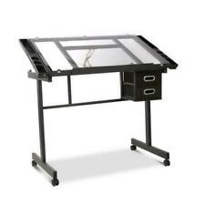 Artiss DRAWDESK03SI Adjustable Drawing Desk - Black/Grey