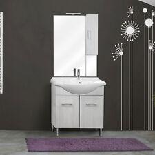 Soluzione da 75 a terra 2 ante con lavabo ceramica specchio, pensile e applique