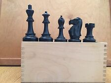 "Vintage Jaques Of London Chess Set 3.75"" King"
