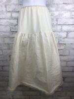 Vintage Stiff Ivory Nylon Crinoline Skirt Petticoat Pinup Rockabilly Small