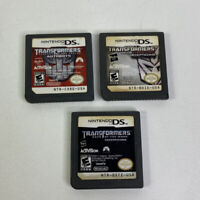 Nintendo DS 3 Game Lot Transformers Autobots Decepticons Authentic Used Tested