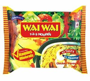 Wai Wai Chicken Flavored Instant Noodles 75g (Pack of 40)