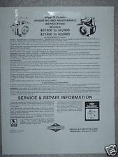 Sears/Briggs & Stratton Twin Engines Operators Manual on CD