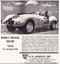 1958-1959 ARNOLT-BRISTOL BOLIDE ~ VINTAGE ORIGINAL S.H. ARNOLT SMALLER PRINT AD