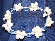 Bracelet en perles et billes bleu marine facon Murano