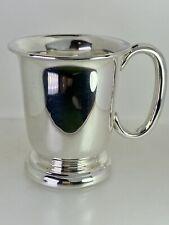 More details for silver christening cup mug beaker baptism naming gift 1950 hallmark 99.1g