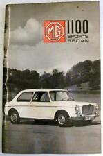 MG 1100 Sports Sedan USA Model 1967 AKD 7041 Original Car Owners Handbook