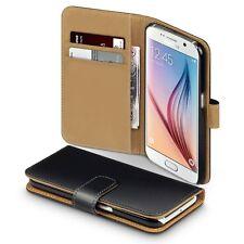 Custodia in Pelle Portafoglio Flip Cover con card slot per Samsung Galaxy S6